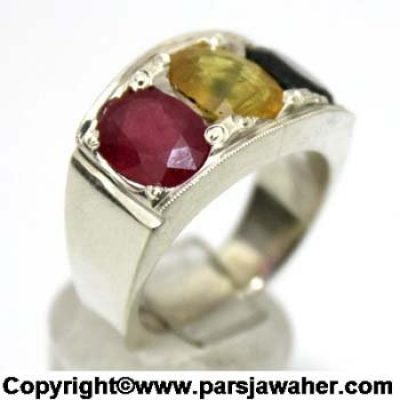 انگشتر یاقوت سرخ زرد کبود 1052