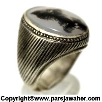انگشتر مردانه نقره شجر 176