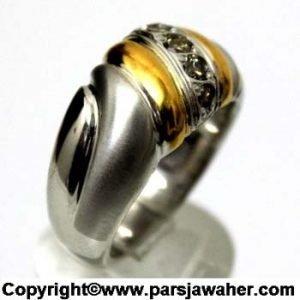 انگشتر برلیان نقره روکش طلا 241
