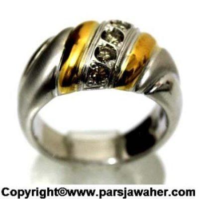 انگشتر مردانه برلیان روکش طلا 241
