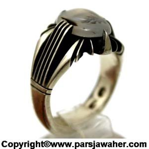 انگشتر نقره شجر طبیعی چهار چنگ 179