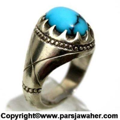 انگشتر مردانه فیروزه نیشابور 151