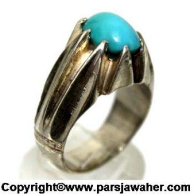 انگشتر فیروزه عجمی نیشابور 156
