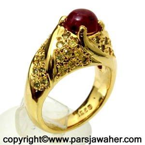 انگشتر زنانه یاقوت سرخ 1045