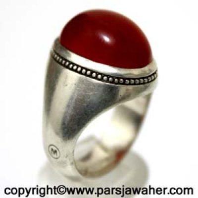 انگشتر نقره عقیق یمنی M غفاری 1072