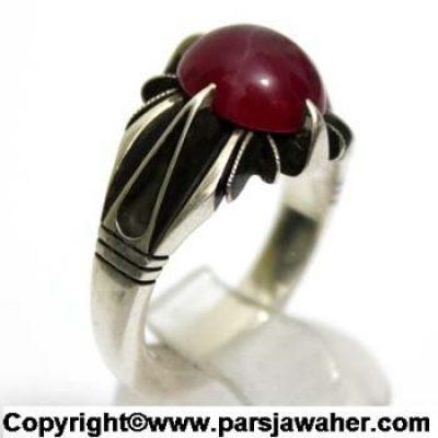 انگشتر نقره یاقوت استار سرخ 219