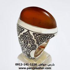 انگشتر مردانه عقیق یمنی کد f160