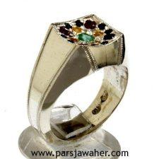 انگشتر نقره جواهر 1047