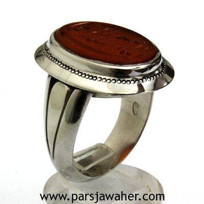 انگشتر نقره مردانه خط حر 2641
