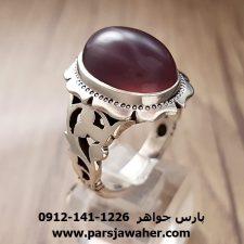 انگشتر مردانه عقیق سوسنی کد a157
