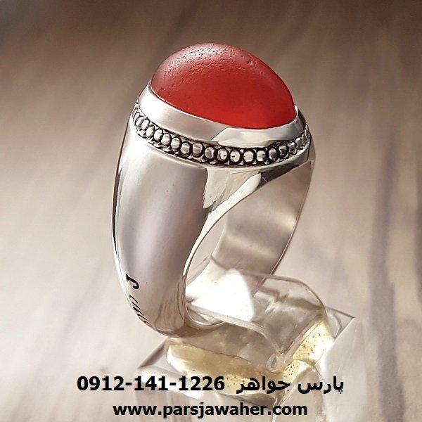 انگشتر عقیق یمنی تراش قطعی a153