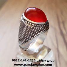 انگشتر عقیق یمنی تراش دار قطعی a140