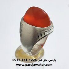 انگشتر کهنه عقیق یمنی مردانه a339