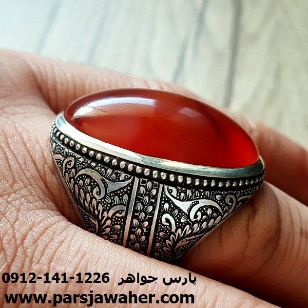 انگشتر نقره مردانه عقیق یمنی f142