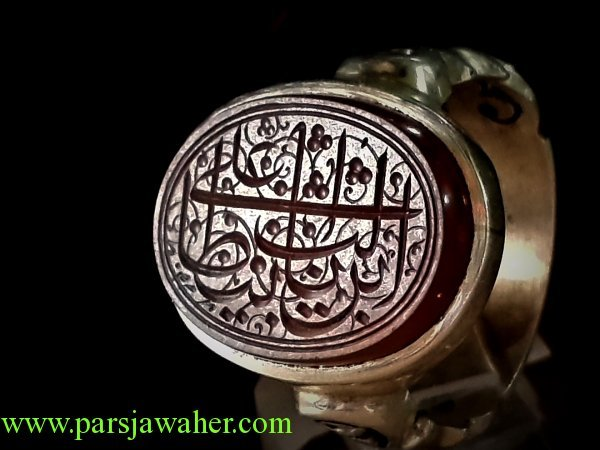 انگشتر مردانه جزع یمنی خطی 8249