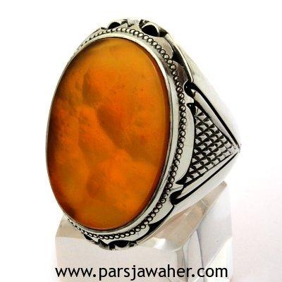 عقیق یمنی اصل پرتقالی رنگ 4091