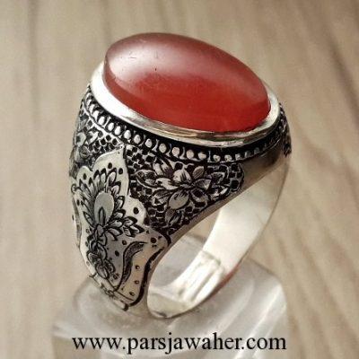 yemeni agate silver ring 215