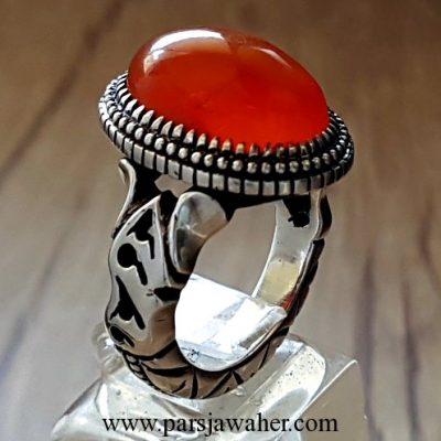 yemeni agate silver ring 208