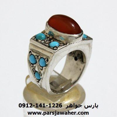 انگشتر زنانه عقیق یمنی قدیمی a151