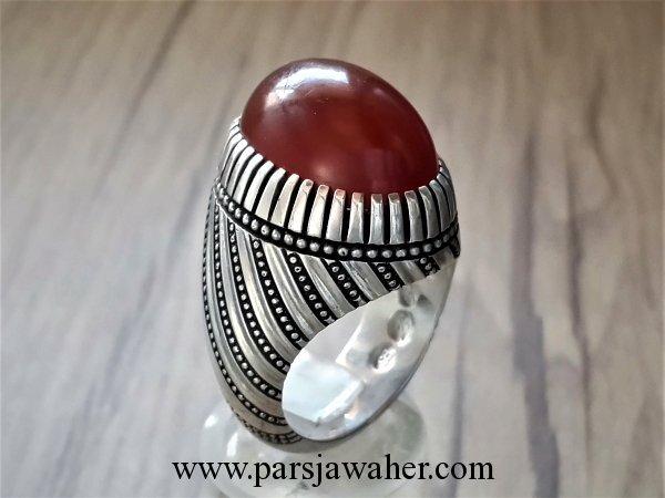 انگشتر نقره عقیق سرخ یمنی 1004