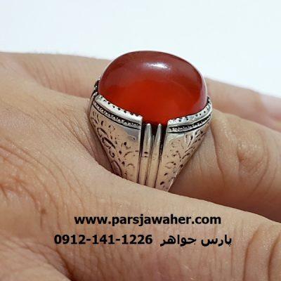 انگشتر  قدیمی قلم زنی دست ساز مردانه a340