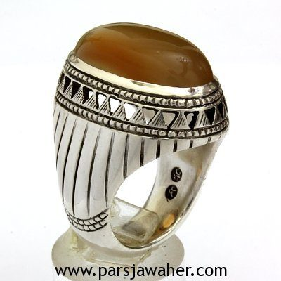 انگشتر مردانه عقیق یمنی 3405