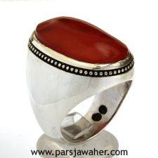 انگشتر نقره عقیق یمنی 346