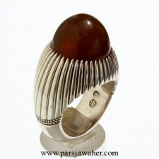 انگشتر جزع یمانی مردانه F106