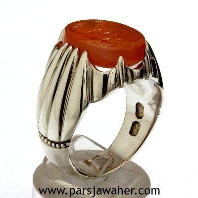 انگشتر مردانه عقیق یمنی F109